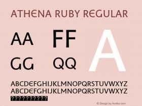 Athena Ruby Regular Version 1.00 build 018图片样张