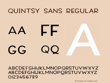 Quintsy Sans Version 1.000图片样张