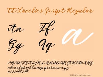 TT Lovelies Script Version 1.0; ttfautohint (v1.5.31-4a5f)图片样张