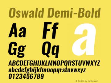 Oswald Demi-BoldItalic 3.0; ttfautohint (v0.94.23-7a4d-dirty) -l 8 -r 50 -G 200 -x 0 -w