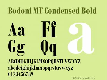 Bodoni MT Condensed Font,Bodoni MT Condensed Bold Font,Bodoni MT