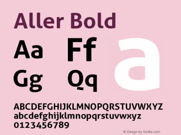 Aller Bold Version 1.00图片样张