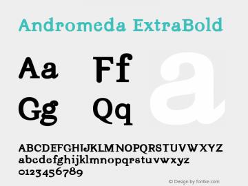 Andromeda-ExtraBold Version 001.000图片样张