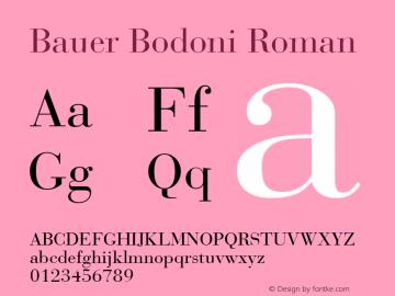 Bauer Bodoni CE Roman Version 001.000图片样张