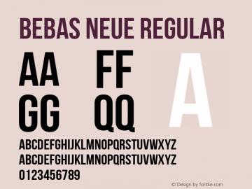 Bebas Neue Regular Version 1.101图片样张