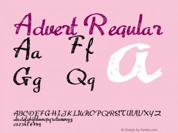 Advert Regular Version 1.00 June 26, 2011, initial release图片样张