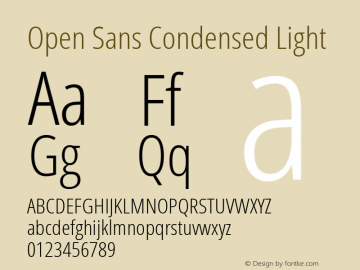 Open Sans Condensed Light Regular Version 1.10图片样张