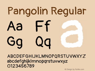 Pangolin Regular Version 1.000图片样张