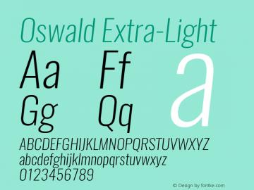 Oswald Extra-LightItalic 3.0; ttfautohint (v0.94.23-7a4d-dirty) -l 8 -r 50 -G 200 -x 0 -w