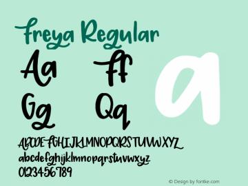 Freya Regular Version 1.00 2017图片样张