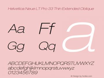 HelveticaNeueLTPro-ThExO Version 1.500;PS 001.005;hotconv 1.0.38图片样张