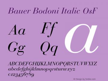 BauerBodoni-ItalicOsF Version 001.003; t1 to otf conv图片样张