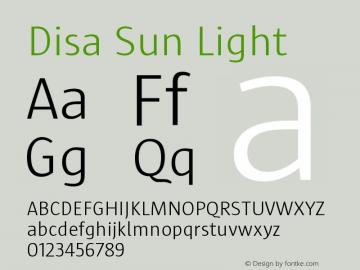 Disa Sun Font Family|Disa Sun-Uncategorized Typeface-Fontke com