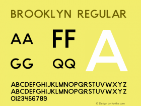 Brooklyn Regular Version 1.000;PS 001.000;hotconv 1.0.88;makeotf.lib2.5.64775图片样张