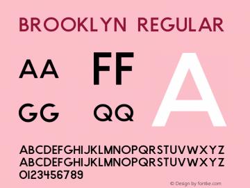 Brooklyn Regular Version 1.000;PS 001.000;hotconv 1.0.88;makeotf.lib2.5.64775图片样张