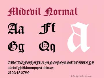 Midevil Normal 1.0 Wed Jul 28 13:46:37 1993图片样张