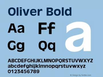 Oliver Bold 1.0 Thu May 29 07:28:16 1980图片样张