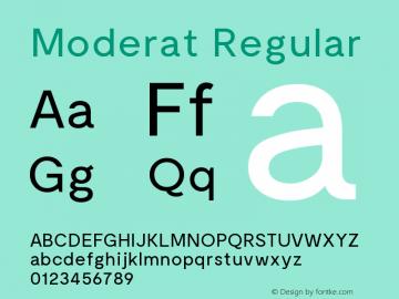 Moderat-Regular Version 1.000;PS 001.000;hotconv 1.0.88;makeotf.lib2.5.64775图片样张