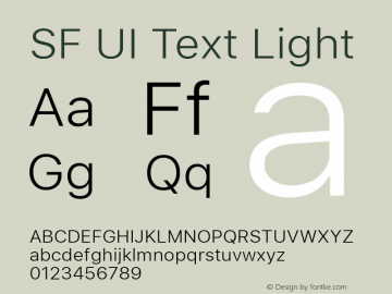 SF UI Text Light 11.0d59e2图片样张