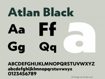 Atlan Black Version 1.000;PS 001.000;hotconv 1.0.88;makeotf.lib2.5.64775图片样张