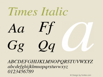 Times Italic 1.0 Wed Jan 15 11:09:52 1997图片样张