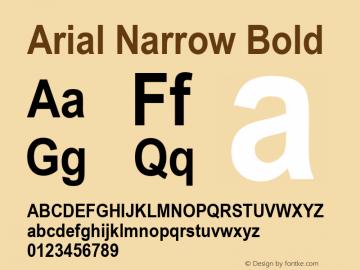 Arial Narrow Bold Version 2.38.1x图片样张