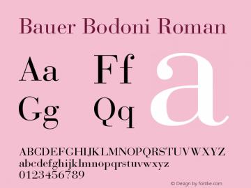 BauerBodoni-Roman 001.002图片样张
