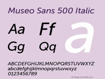 MuseoSans-500Italic 1.000图片样张