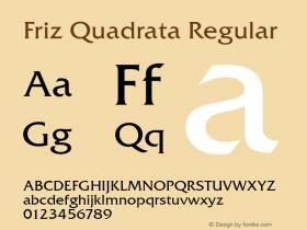 FrizQuaReg Regular Version 2.00图片样张