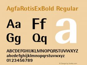 AgfaRotisExBold 1.0: 93827: 10499图片样张