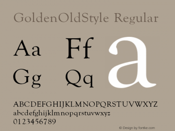 GoldenOldStyle v1.0c图片样张