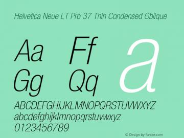 HelveticaNeueLTPro-ThCnO Version 1.000;PS 001.000;Core 1.0.38图片样张