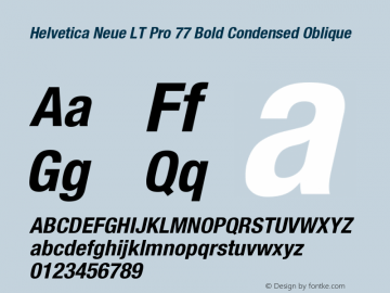 HelveticaNeueLTPro-BdCnO Version 1.000;PS 001.000;Core 1.0.38图片样张