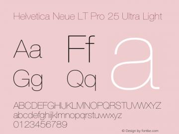 HelveticaNeueLTPro-UltLt Version 1.000;PS 001.000;Core 1.0.38图片样张