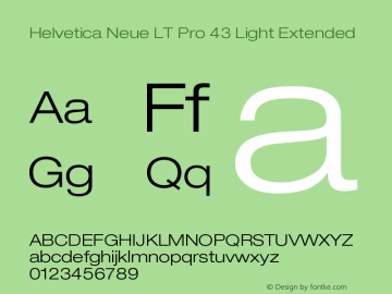 HelveticaNeueLTPro-LtEx Version 1.000;PS 001.000;Core 1.0.38图片样张