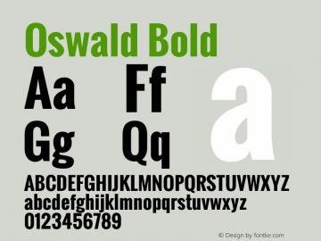 Oswald Bold Version 2.3图片样张