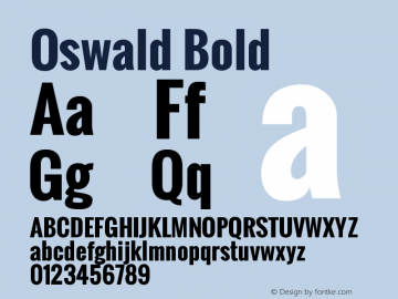 Oswald Bold Version 2.002图片样张