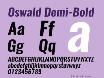 Oswald Demi-BoldItalic 3.0图片样张
