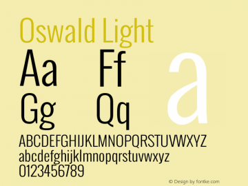 Oswald Light Version图片样张