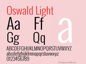 Oswald Light Version 2.3图片样张