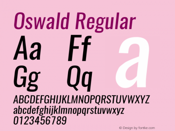 Oswald RegularItalic 3.0图片样张