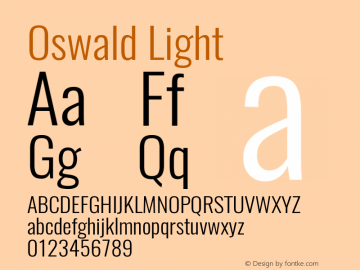 Oswald Light Version 4.002图片样张