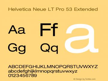 HelveticaNeueLTPro-Ex Version 1.000;PS 001.000;Core 1.0.38图片样张