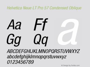 HelveticaNeueLTPro-CnO Version 1.000;PS 001.000;Core 1.0.38图片样张