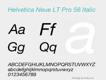 HelveticaNeueLTPro-It Version 1.000;PS 001.000;Core 1.0.38图片样张