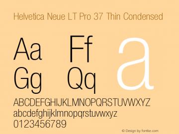 HelveticaNeueLTPro-ThCn Version 1.000;PS 001.000;Core 1.0.38图片样张