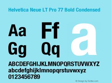 HelveticaNeueLTPro-BdCn Version 1.000;PS 001.000;Core 1.0.38图片样张