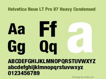 HelveticaNeueLTPro-HvCn Version 1.000;PS 001.000;Core 1.0.38图片样张