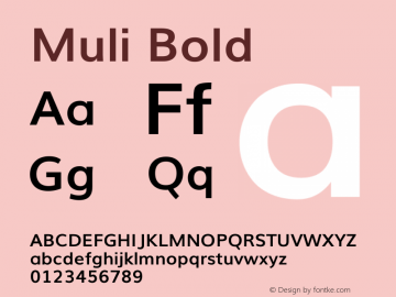 Muli Bold Version 2图片样张