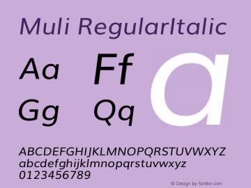 Muli Italic Version 2.0图片样张